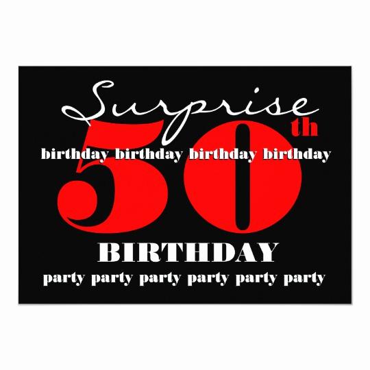 Suprise Birthday Party Invitation Elegant 50th Suprise Birthday Party Invitation Template V2