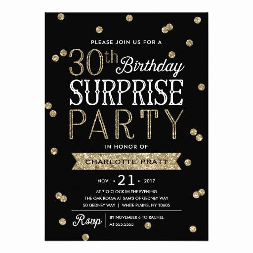 Suprise Birthday Party Invitation Fresh 20 Interesting 30th Birthday Invitations themes – Wording