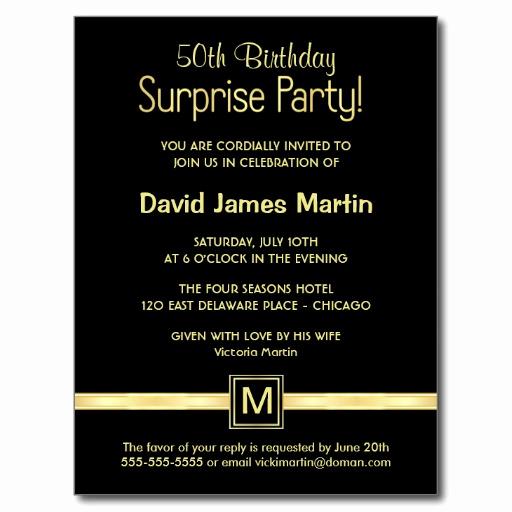 Suprise Birthday Party Invitation Fresh Surprise 50th Birthday Party Invitations Wording