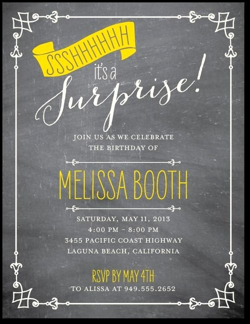 Suprise Birthday Party Invitation Lovely 17 Best Ideas About Surprise Birthday Invitations On