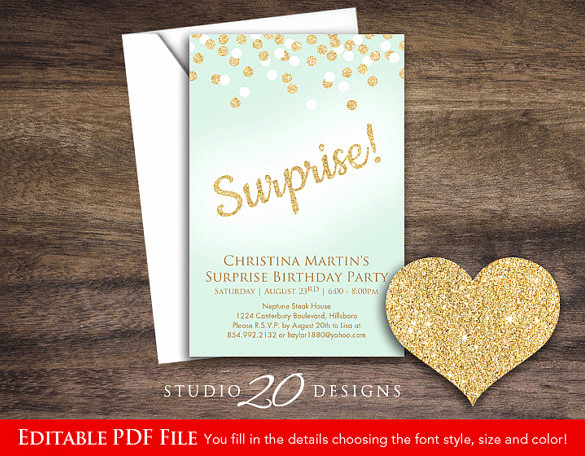 Suprise Birthday Party Invitation Lovely 17 Outstanding Surprise Party Invitations & Designs