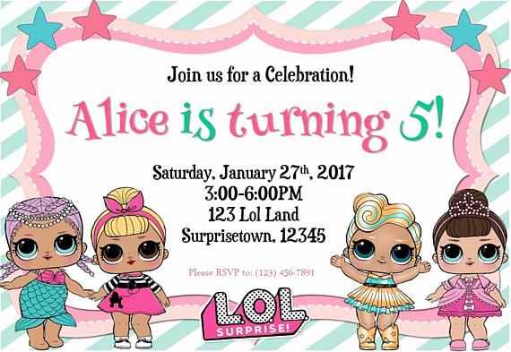 Suprise Birthday Party Invitation Lovely Lol Surprise Birthday Invitation