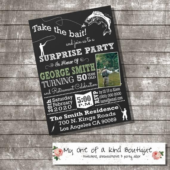 Suprise Birthday Party Invitation Luxury Fly Fishing Suprise Birthday Party Invitation by