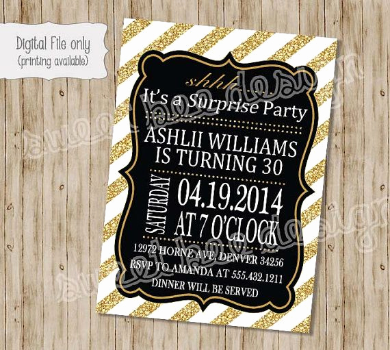 Suprise Birthday Party Invitation New 17 Best Ideas About Surprise 30th Birthday On Pinterest