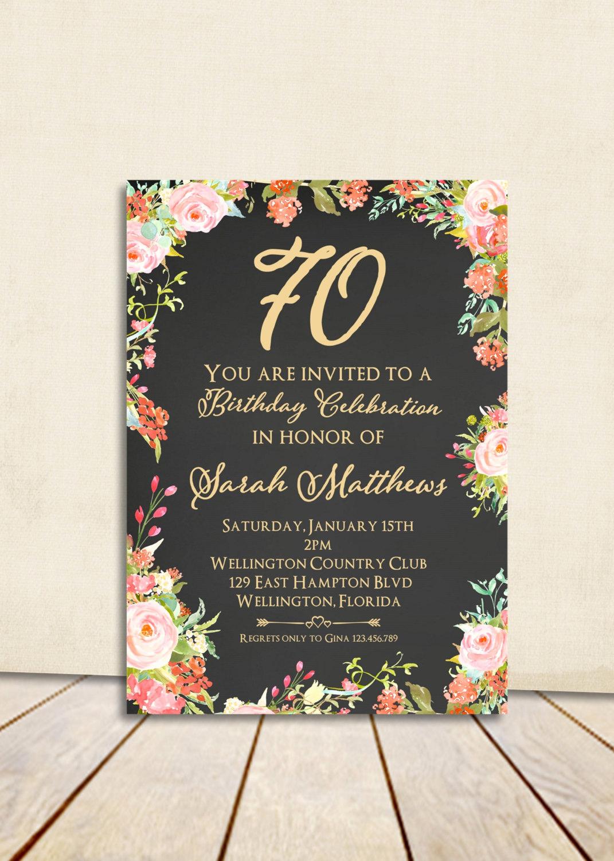 80th birthday invitation surprise