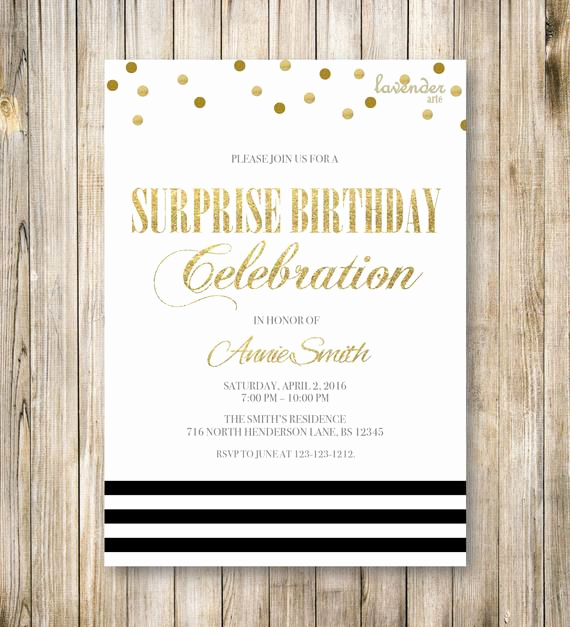 Suprise Party Invitation Wording Beautiful Items Similar to Minimalist Surprise Birthday Party