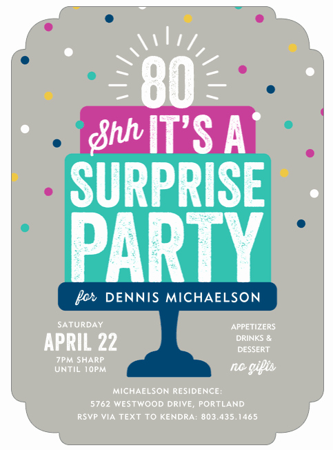 Suprise Party Invitation Wording Best Of 80th Birthday Invitations 30 Best Invites for An 80th