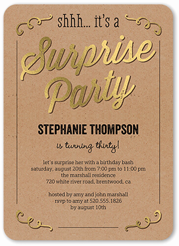 Suprise Party Invitation Wording Elegant 30th Birthday Party Ideas and themes