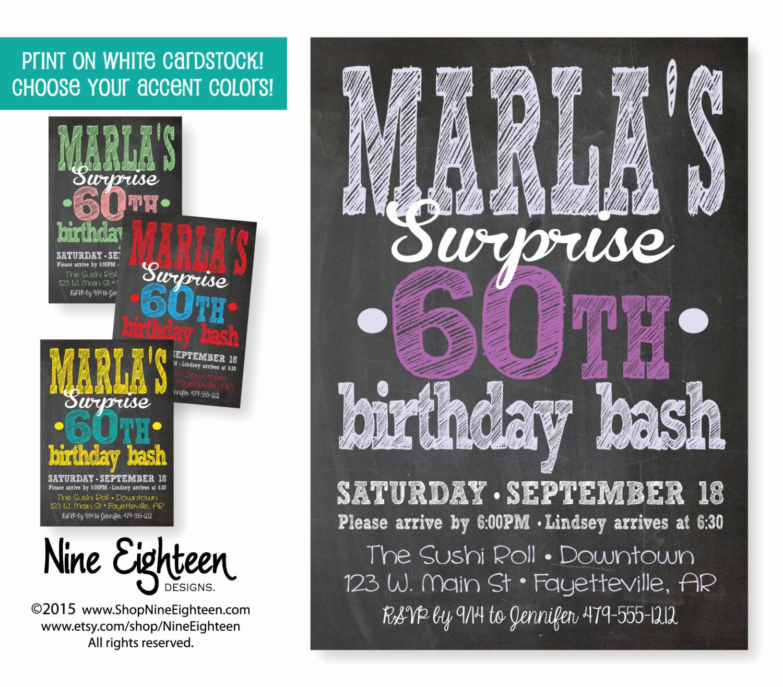 Suprise Party Invitation Wording Elegant Surprise Party Invitation Adult Custom Printable by