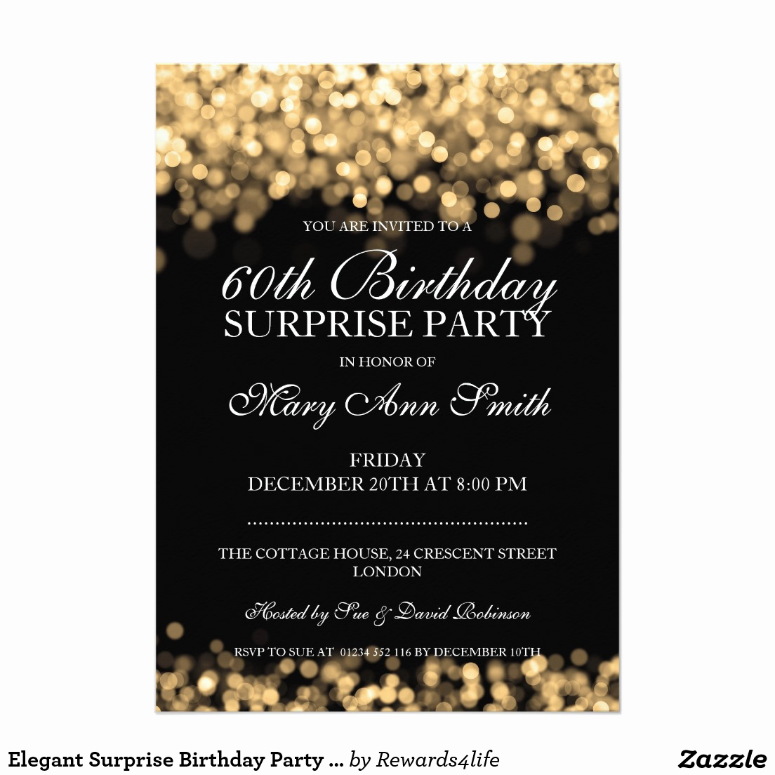 Suprise Party Invitation Wording Lovely 60th Birthday Surprise Party Invitations