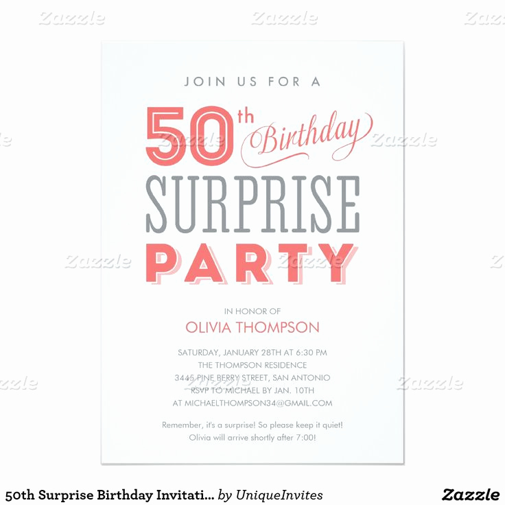 Suprise Party Invitation Wording New Best 20 50th Birthday Invitations Ideas On Pinterest