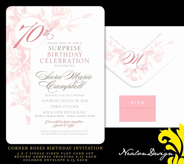 Surprise 70th Birthday Invitation Wording Awesome Best 25 70th Birthday Invitations Ideas On Pinterest
