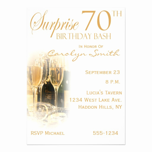 Surprise 70th Birthday Invitation Wording Beautiful Surprise 70th Birthday Party Invitations 13 Cm X 18 Cm