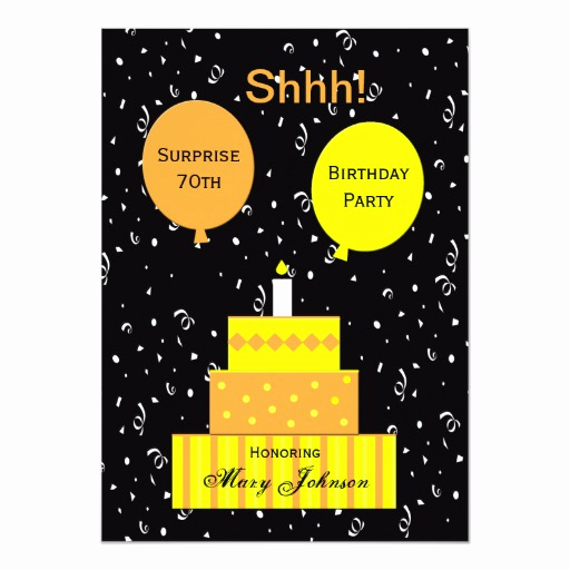 "Surprise 70th Birthday Invitation Wording Best Of Surprise 70th Birthday Party Invitation 5"" X 7"" Invitation"