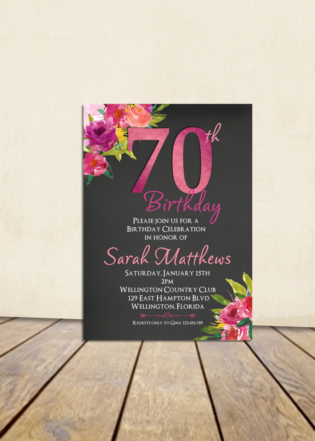 Surprise 70th Birthday Invitation Wording Inspirational 70th Birthday Invitation Surprise Birthday Invitation Any