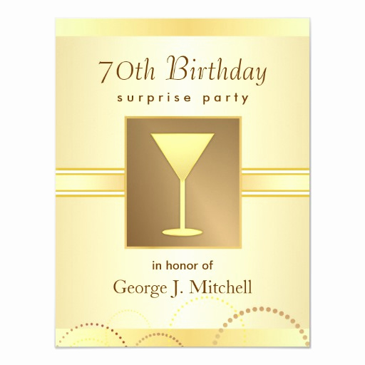 Surprise 70th Birthday Invitation Wording Inspirational 70th Birthday Surprise Party Invitations Gold