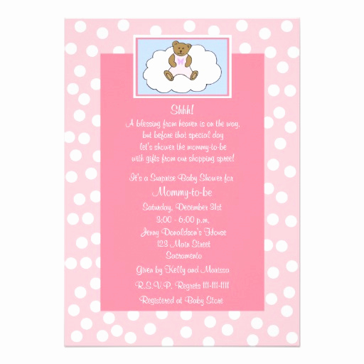 """Surprise Baby Shower Invitation Awesome Surprise Baby Shower Invitation Teddy Bear 5"""" X 7"""