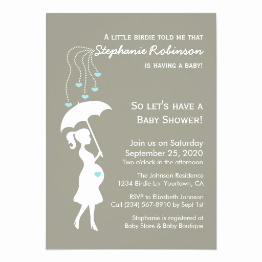 Surprise Baby Shower Invitation Beautiful Heart Rain Baby Shower Custom Invite