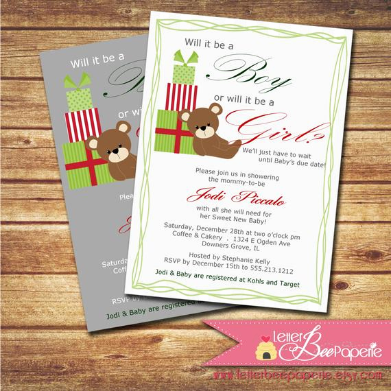 Surprise Baby Shower Invitation Beautiful Holiday Surprise Baby Shower Gender Reveal Party