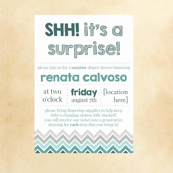 Surprise Baby Shower Invitation Beautiful Shh It S A Surprise Baby Shower Invite Announcement
