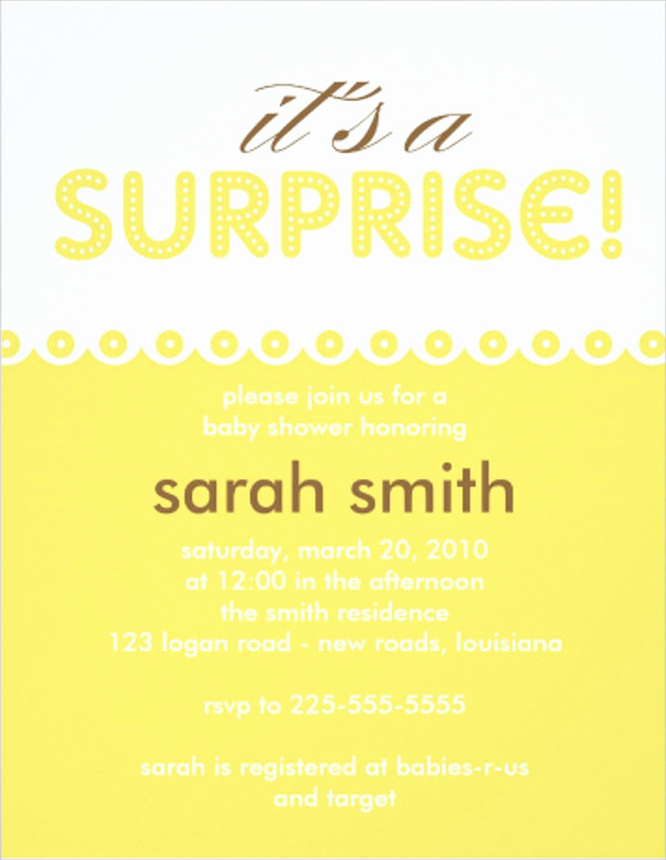 Surprise Baby Shower Invitation Best Of 88 Invitation Card Templates Psd Ai Word