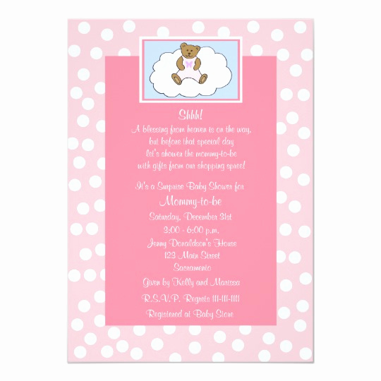 Surprise Baby Shower Invitation Best Of Surprise Baby Shower Invitation Teddy Bear