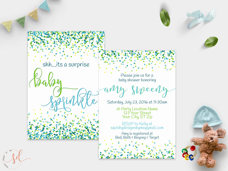 Surprise Baby Shower Invitation Best Of Surprise Baby Sprinkle Invitation Boy Baby Shower Confetti