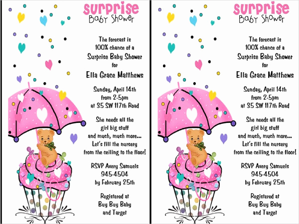Surprise Baby Shower Invitation Lovely 40 Best Invitation Examples