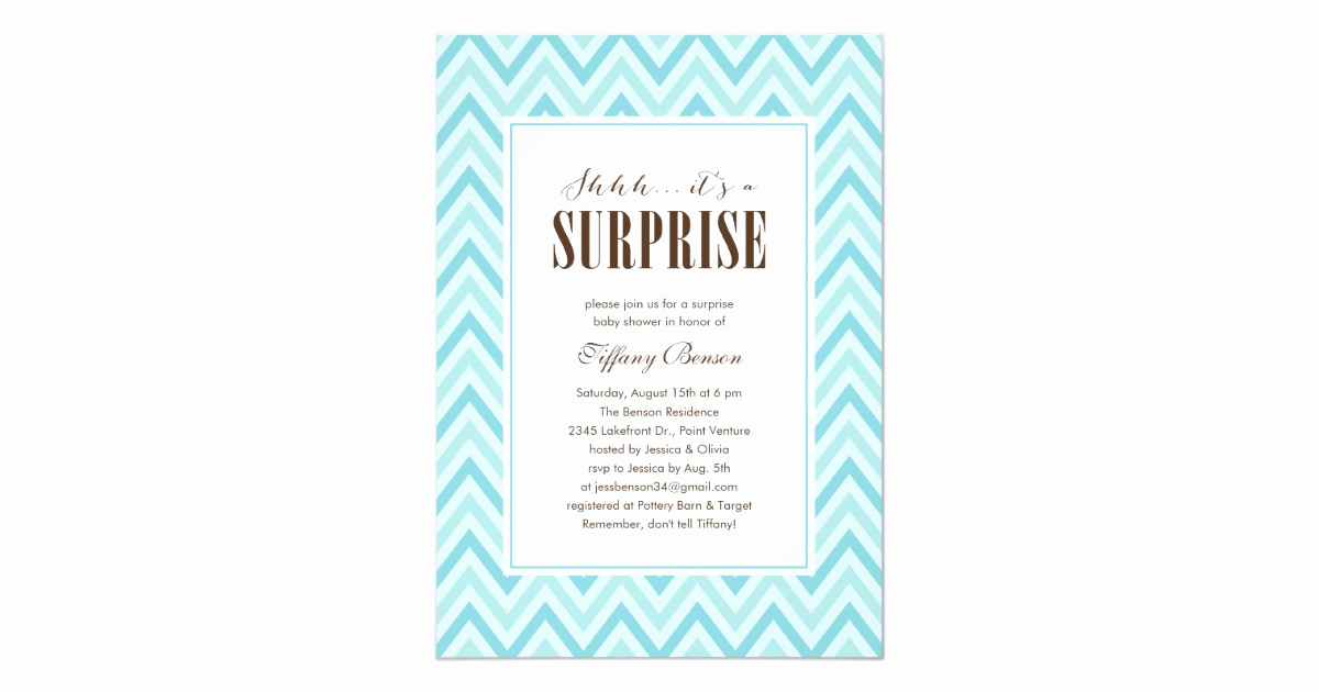 Surprise Baby Shower Invitation Wording Elegant Surprise Baby Shower Invitations