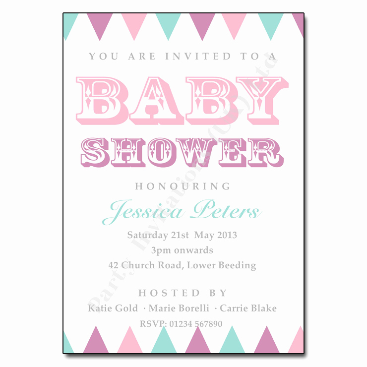 Surprise Baby Shower Invitation Wording Elegant Vintage Bunting Baby Shower Invitation
