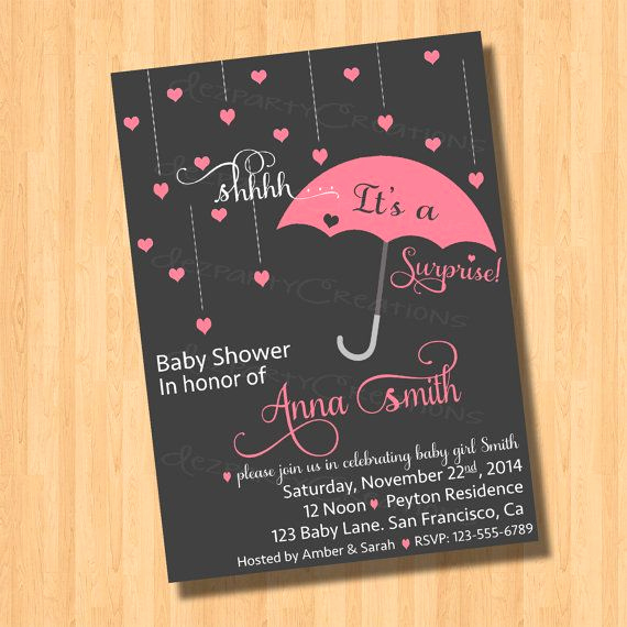 Surprise Baby Shower Invitation Wording Inspirational Surprise Baby Shower Invitation Digital File by