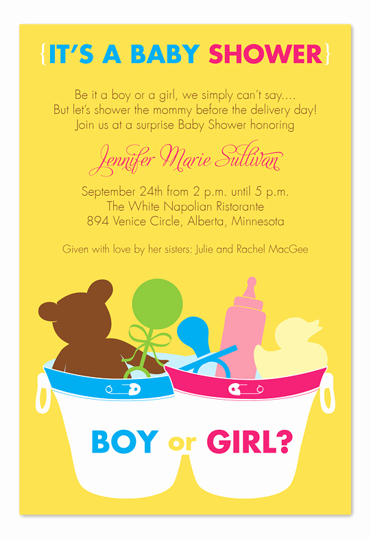 Surprise Baby Shower Invitation Wording Luxury Surprise Bucket Baby Shower Invitations by Invitation