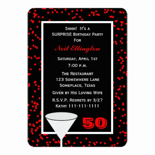Surprise Birthday Invitation Wording Elegant Surprise 50th Birthday Party Invitations Wording