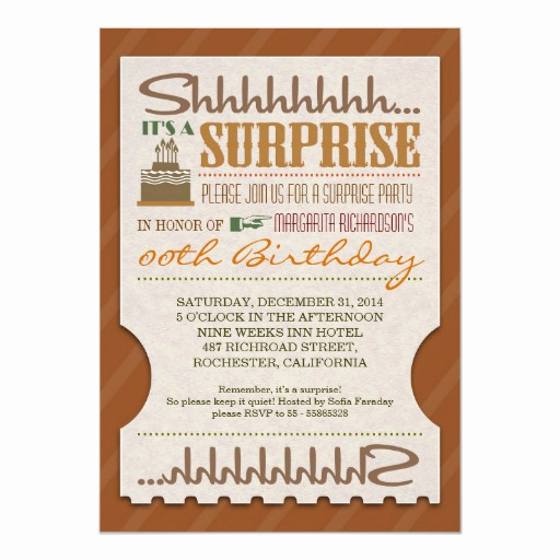 Surprise Birthday Invitation Wording Lovely Surprise Birthday Party Unique Typography Invites
