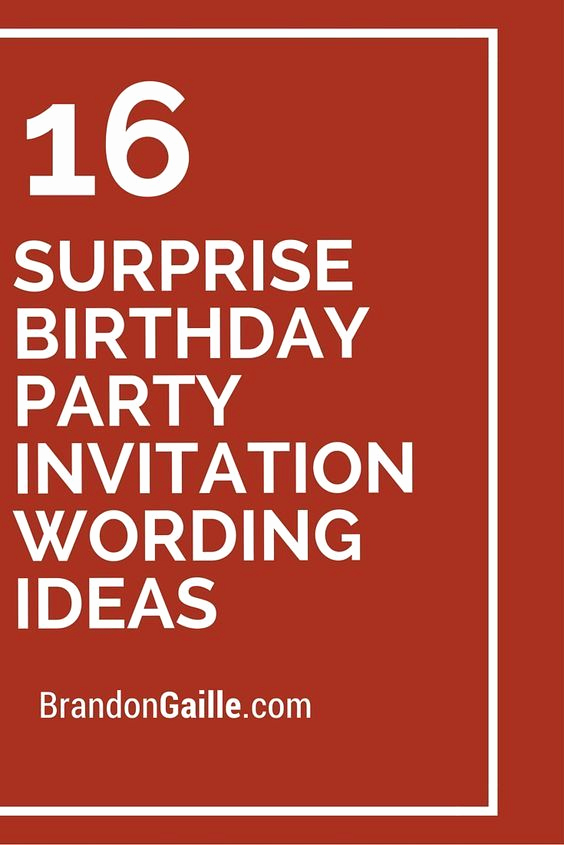 Surprise Birthday Invitation Wording New 17 Best Ideas About Surprise Birthday Invitations On