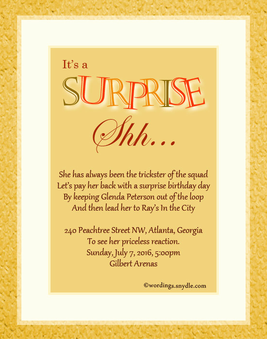 Surprise Birthday Invitation Wording New Ideas to Surprise Your Bridesmaids – Ruize Clothing