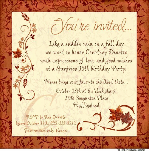 Surprise Birthday Party Invitation Wording Awesome Birthday Card Shower Invitations Wording