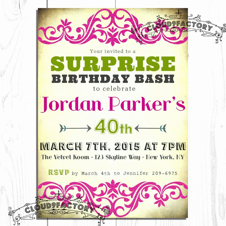 Surprise Birthday Party Invitation Wording Beautiful 15 Best Mum Party Images On Pinterest