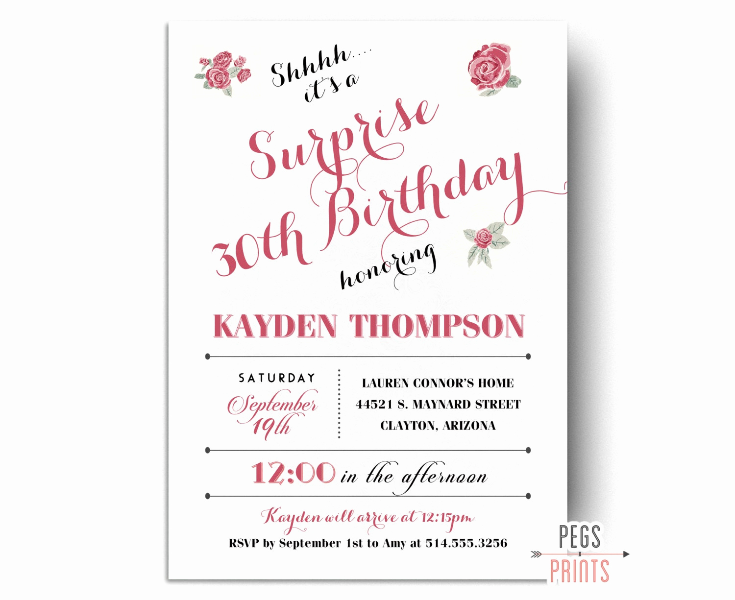 Surprise Birthday Party Invitation Wording Best Of Surprise Party Invitation Printable Surprise Birthday