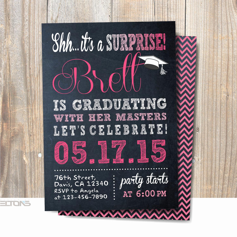 Surprise Graduation Party Invitation Wording Awesome Graduation Invitation Graduation Party Announcement Surprise