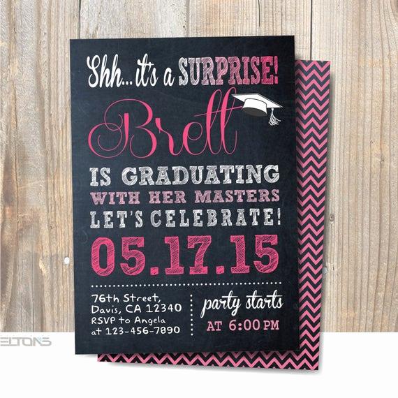 Surprise Graduation Party Invitation Wording Fresh Graduation Invitation Surprise Party Invitation Graduation