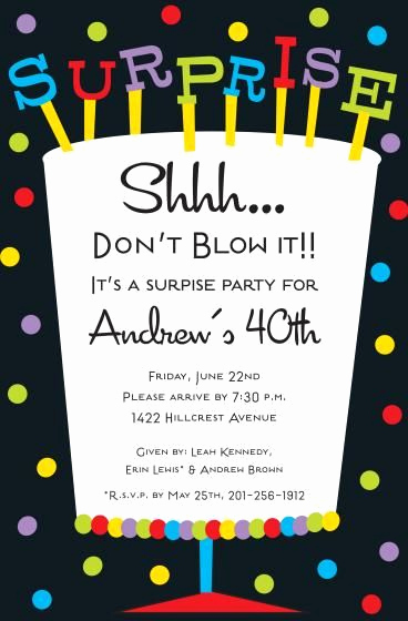 Surprise Party Invitation Wording Elegant Free Printable Surprise Birthday Invitations