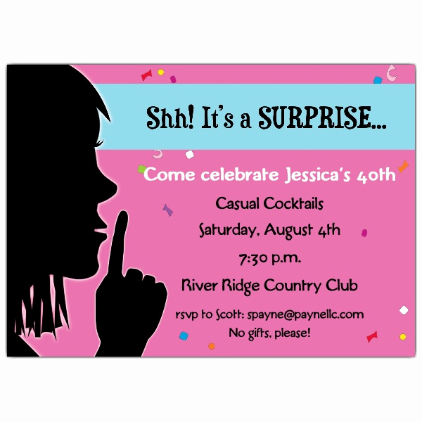 Surprise Party Invitation Wording Elegant Keep It Quiet Surprise Invitations