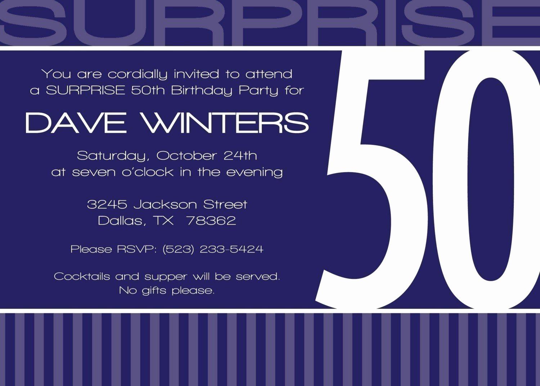 Surprise Party Invitation Wording Inspirational 50th Surprise Birthday Invitation Wording