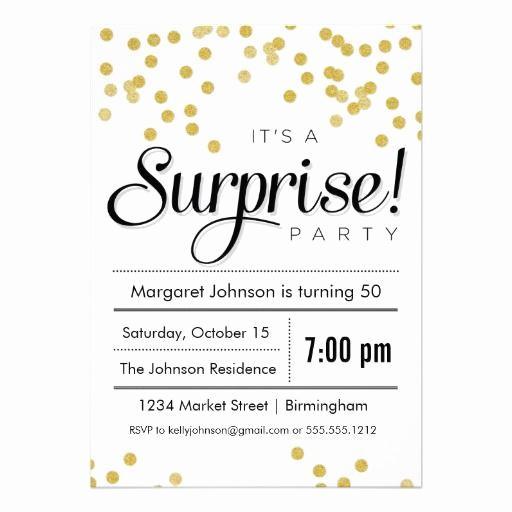 Surprise Party Invitation Wording New Confetti Surprise Party Invitation