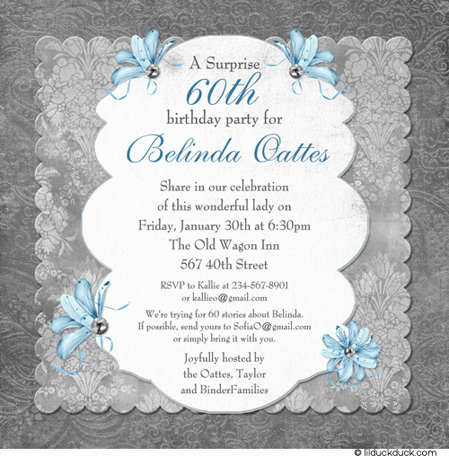 Surprise Party Invitation Wording New Free Printable 60th Surprise Birthday Party Invitations