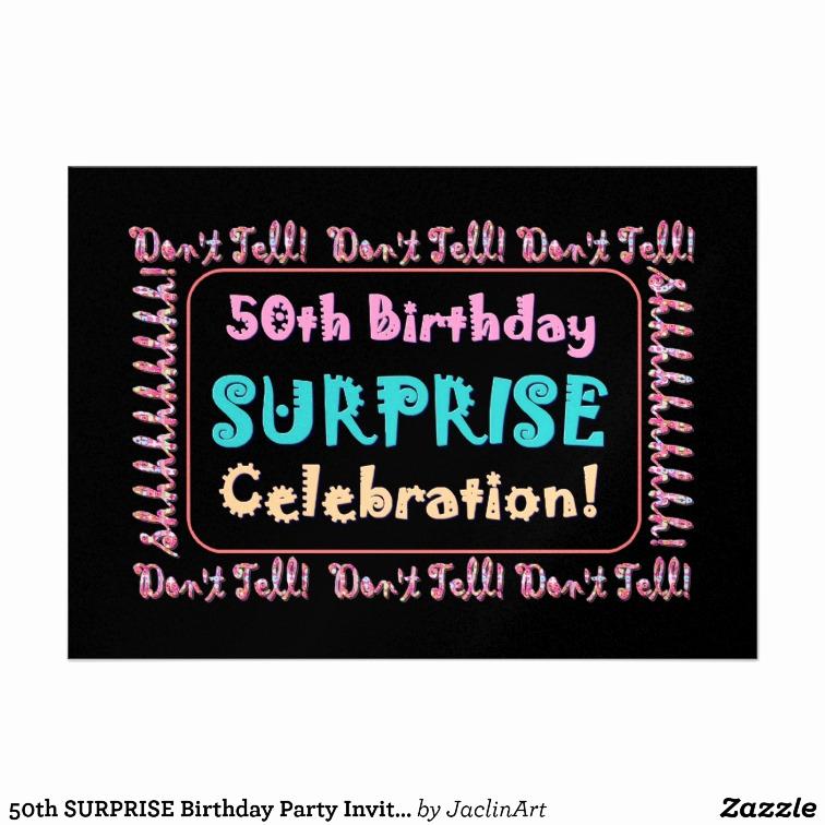 Surprise Party Invitation Wording New Surprise 50th Birthday Invitations Wording
