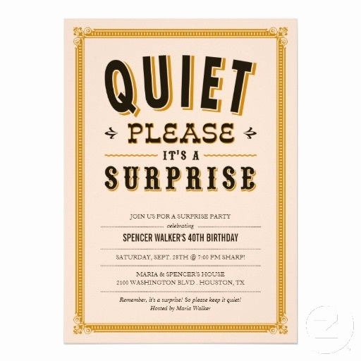 Surprise Wedding Invitation Wording Awesome Quiet Vintage Surprise Party Invitations