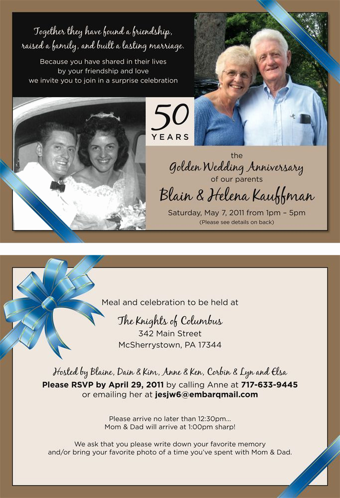 Surprise Wedding Invitation Wording Best Of Project 50th Wedding Anniversary Party Invitation