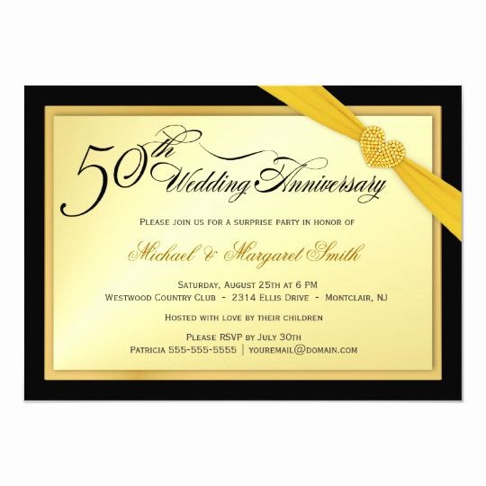 Surprise Wedding Invitation Wording Elegant 50th Wedding Anniversary Surprise Party Invitation